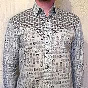 Одежда ручной работы. Ярмарка Мастеров - ручная работа Мужская рубашка Пахаргандж M/L. Handmade.