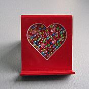 """Подарки к праздникам ручной работы. Ярмарка Мастеров - ручная работа Подставка под телефон """"Сердце"""". Handmade."""
