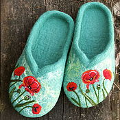 """Обувь ручной работы. Ярмарка Мастеров - ручная работа """"Маки"""". Handmade."""