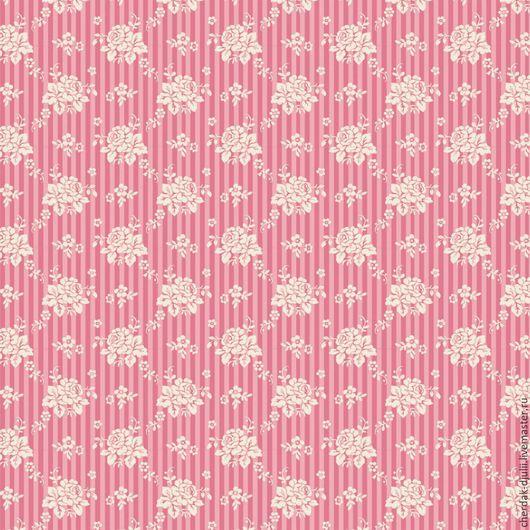 Куклы и игрушки ручной работы. Ярмарка Мастеров - ручная работа. Купить Ткань Tilda Emily pink, Spring Diaries (2016). TF- 083. Handmade.