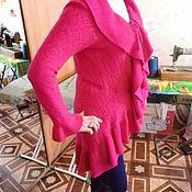 Одежда ручной работы. Ярмарка Мастеров - ручная работа кардиган с воланом. Handmade.