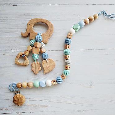 Товары для малышей ручной работы. Ярмарка Мастеров - ручная работа Комплект из держателя и грызунка. Handmade.