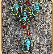 Украшения ручной работы. Ярмарка Мастеров - ручная работа Стильный набор Зелёный Скорпион. Handmade.