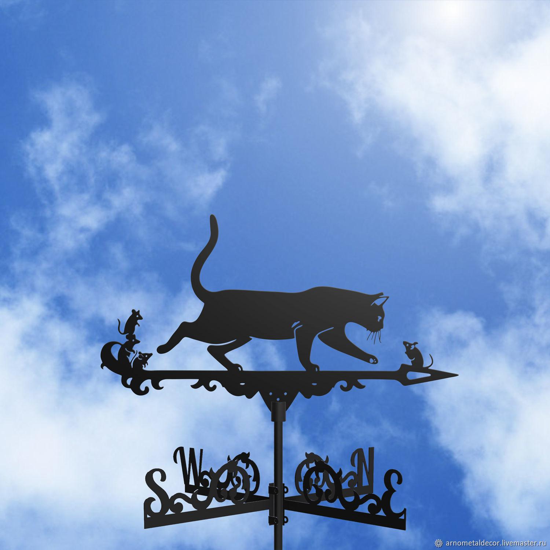 Weather vane on the roof ' Cat and Mice', Vane, Ivanovo,  Фото №1
