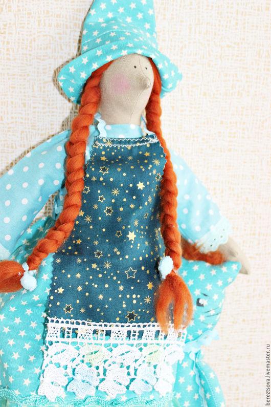Куклы Тильды ручной работы. Ярмарка Мастеров - ручная работа. Купить Звездная волшебница со звездным котиком. Handmade. Голубой