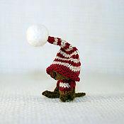 Куклы и игрушки ручной работы. Ярмарка Мастеров - ручная работа Волшебная собачка в полосатом колпаке. Handmade.