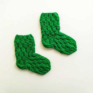 Товары для малышей ручной работы. Ярмарка Мастеров - ручная работа Детские вязаные носочки. Handmade.