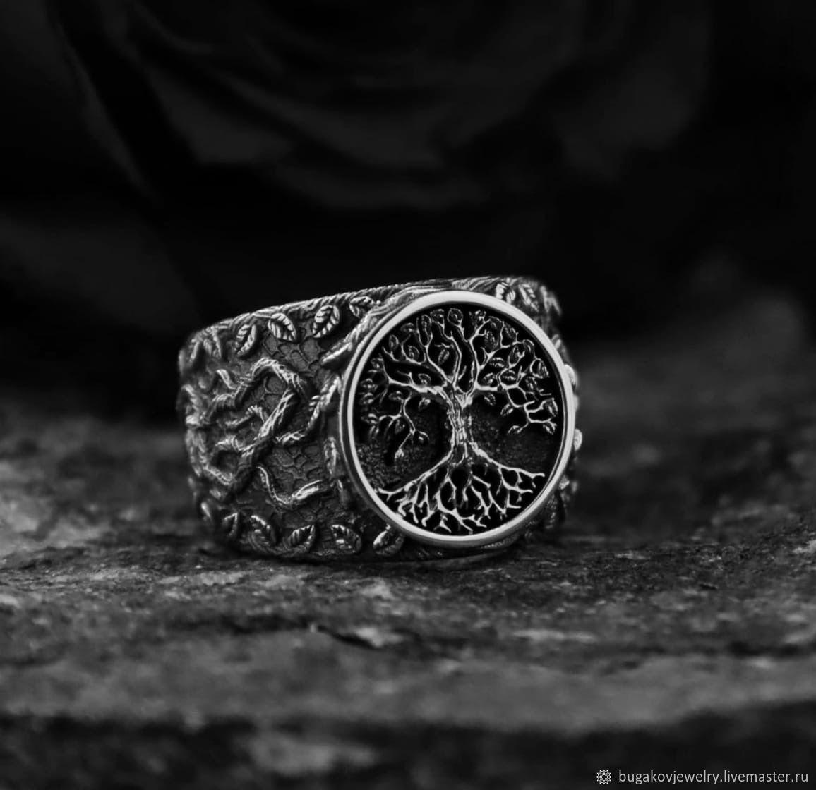 """Кольцо """"Иггдрасиль"""" из серебра 925 пробы с чернением, Кольца, Москва,  Фото №1"""