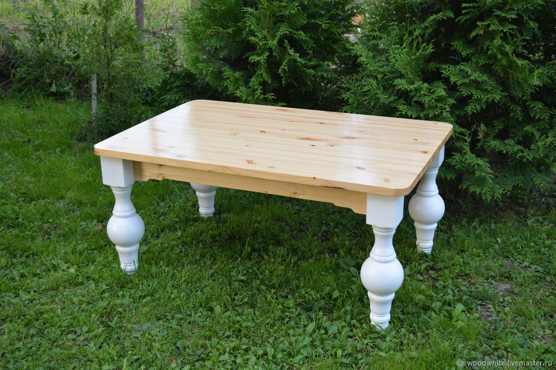 """Мебель ручной работы. Ярмарка Мастеров - ручная работа. Купить Стол """"Артур"""". Handmade. Белый, низкий стол, стол низкий"""