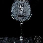 Посуда handmade. Livemaster - original item Leo. wine glass. Handmade.