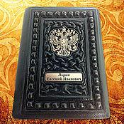 Сумки и аксессуары handmade. Livemaster - original item Passport cover in leather