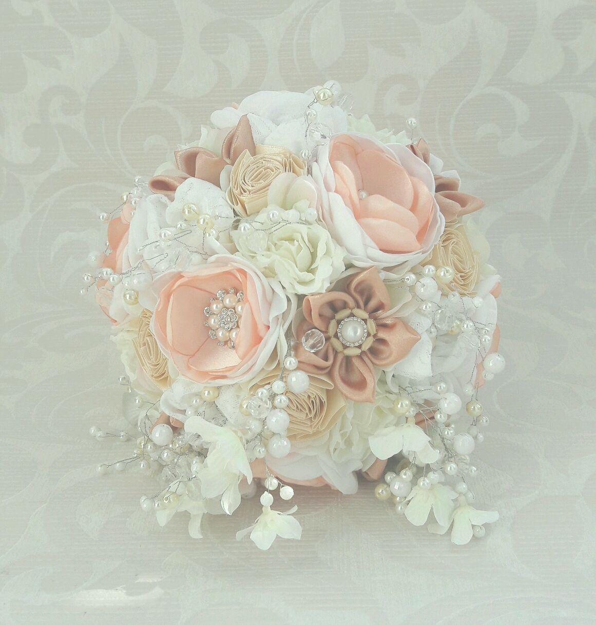 Peach bridal brooch bouquet asymmetrical brooch bouquet shop wedding flowers handmade livemaster handmade buy peach bridal brooch bouquet asymmetrical brooch izmirmasajfo