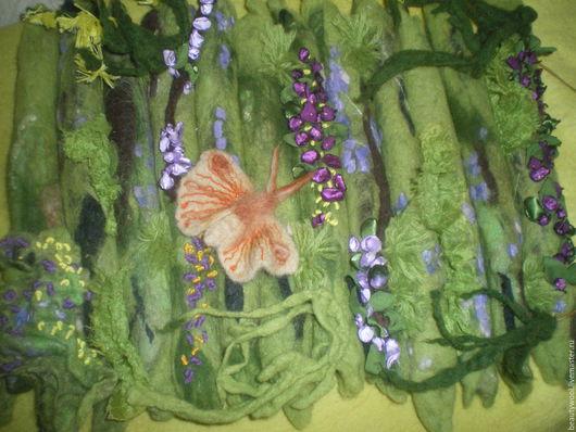 """Картины цветов ручной работы. Ярмарка Мастеров - ручная работа. Купить Панно """"ЛЕТО"""". Handmade. Зеленый, уникальное панно"""