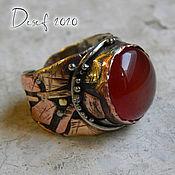Украшения handmade. Livemaster - original item Abstract ring with carnelian. Handmade.