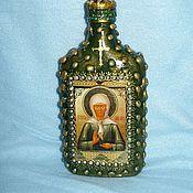 Посуда ручной работы. Ярмарка Мастеров - ручная работа бутылочка для хранения Святой воды. Handmade.