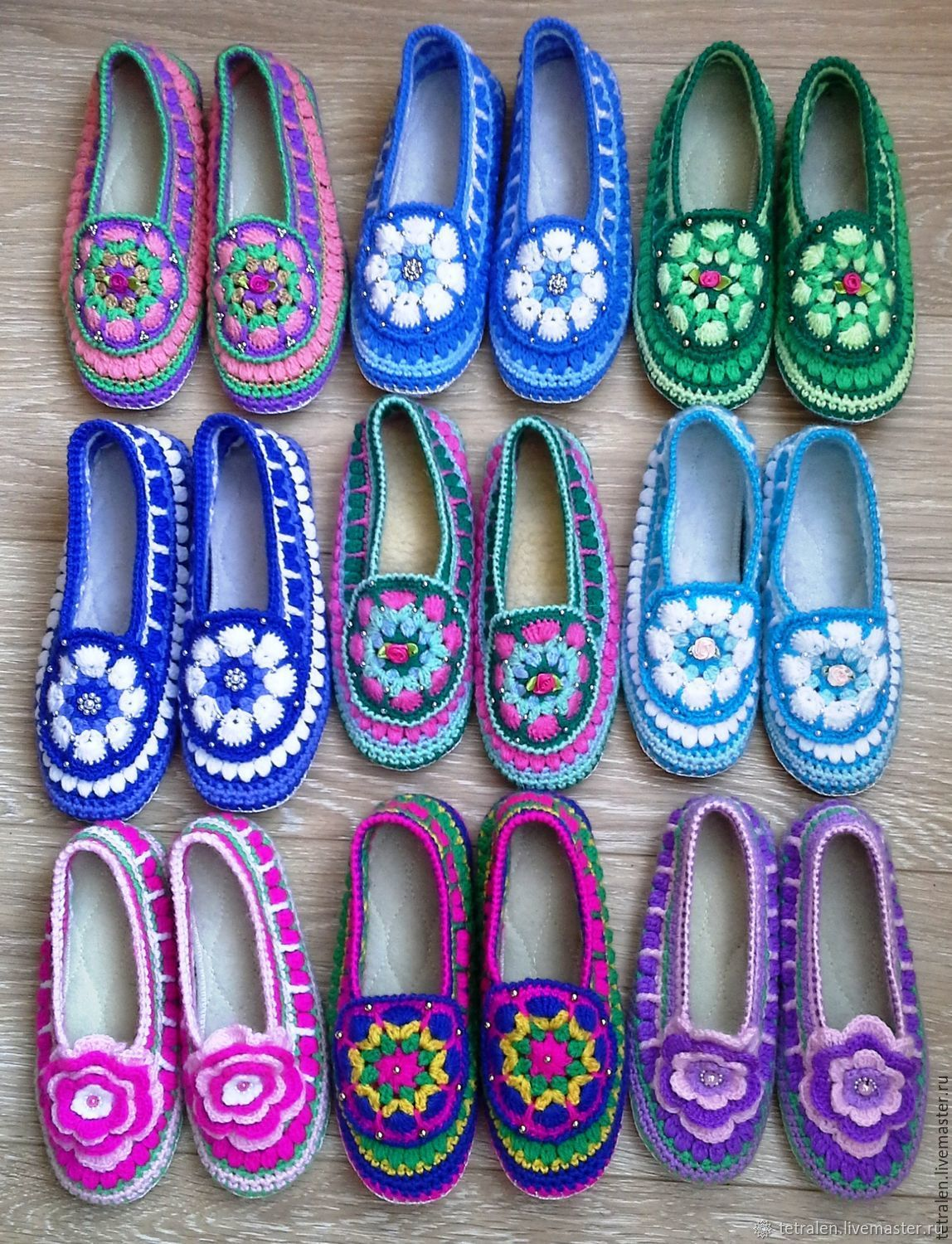 2fa5ce87fcc73c My Handmade Shoes handmade. Slippers knitted Summer leather sole. Knitted  stuff from Svetlana. My