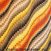 """Для дома и интерьера ручной работы. Ярмарка Мастеров - ручная работа Одеяло """"Желтая волна"""". Handmade."""