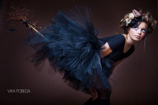 """Юбки ручной работы. Ярмарка Мастеров - ручная работа. Купить """"Черный лебедь"""" взрослая пышная юбка-пачка из фатина. Handmade."""