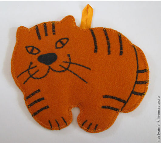 Кухня ручной работы. Ярмарка Мастеров - ручная работа. Купить Прихватки знаки зодиака. Тигр. Handmade. Рыжий, тигр, кот