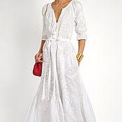 Одежда ручной работы. Ярмарка Мастеров - ручная работа Вышитое льняное платье Вышиванка Льняное Бохо платье. Handmade.