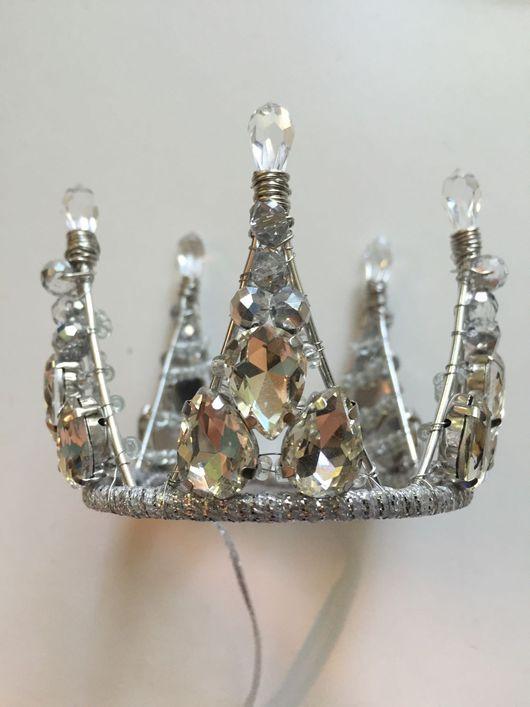 Диадемы, обручи ручной работы. Ярмарка Мастеров - ручная работа. Купить Королевская мини корона. Handmade. Корона, Аксессуары handmade