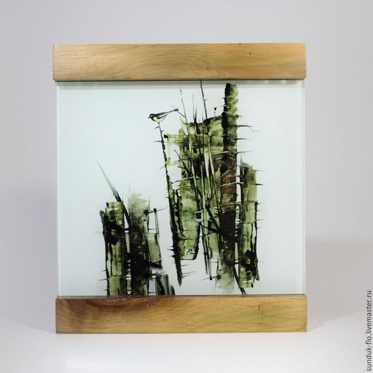 Стеклянная картина Бамбук