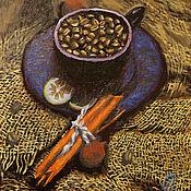 """Картины и панно ручной работы. Ярмарка Мастеров - ручная работа Кофейные мотивы """"Кофе с корицей"""". Handmade."""