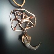 "Фен-шуй и эзотерика handmade. Livemaster - original item Amulet from silver ""The Rider"". Handmade."