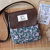 """Сумка через плечо ручной работы. Ярмарка Мастеров - ручная работа Женская сумочка через плечо """" Яблочная"""". Handmade."""