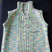 Работы для детей, ручной работы. Ярмарка Мастеров - ручная работа детская вязаная жилетка унисекс. Handmade.