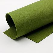 Материалы для творчества ручной работы. Ярмарка Мастеров - ручная работа Корейский мягкий фетр 1,5 мм, ST-18(оливковый). Handmade.