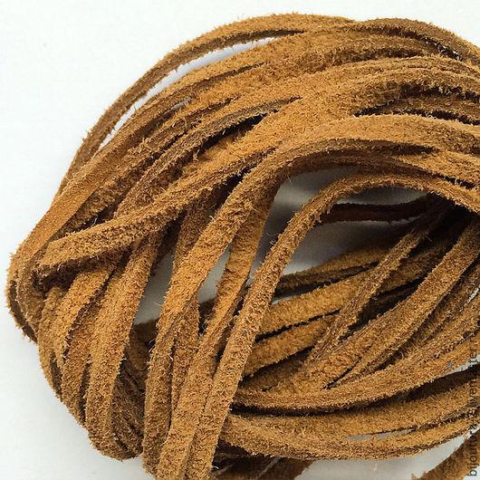 Для украшений ручной работы. Ярмарка Мастеров - ручная работа. Купить Шнур 3 мм, (арт.нз12) натуральная замша, цвет светло-коричневый. Handmade.