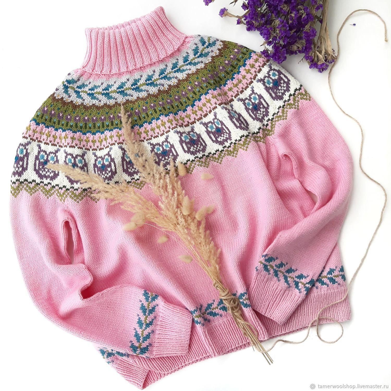 Женский свитер с совами, Исландский свитер, Лопапейса, Свитеры, Москва,  Фото №1