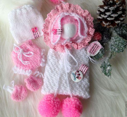 """Одежда для кукол ручной работы. Ярмарка Мастеров - ручная работа. Купить """"Ice Kream"""" комплект для пупса. Handmade. Бледно-розовый"""