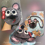 Сумки ручной работы. Ярмарка Мастеров - ручная работа Вязаная сумочка мышка. Handmade.