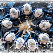 Сувениры и подарки handmade. Livemaster - original item Christmas balls with embroidery. Handmade.