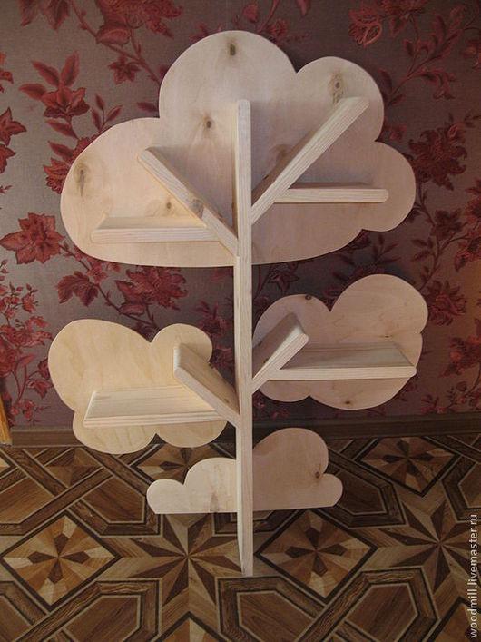 Детская ручной работы. Ярмарка Мастеров - ручная работа. Купить Полка в виде дерева-1метр высотой. Handmade. Бежевый