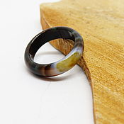 Украшения handmade. Livemaster - original item Ring of brown-green agate 17.5 p. Handmade.