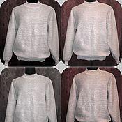 Одежда handmade. Livemaster - original item 100% linen men`s cardigan