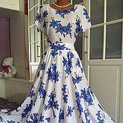 Одежда ручной работы. Ярмарка Мастеров - ручная работа Штапельное платье в пол Колокольчики 2. Handmade.