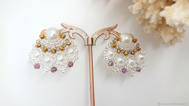 Peacock earrings, Stud earrings, Podolsk,  Фото №1