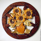 "Картины и панно handmade. Livemaster - original item ""Young Sunflowers"". Panels.. Handmade."
