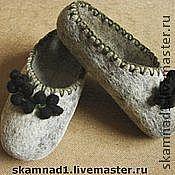 """Обувь ручной работы handmade. Livemaster - original item Тапочки валяные """"Гроздья смородины """". Handmade."""
