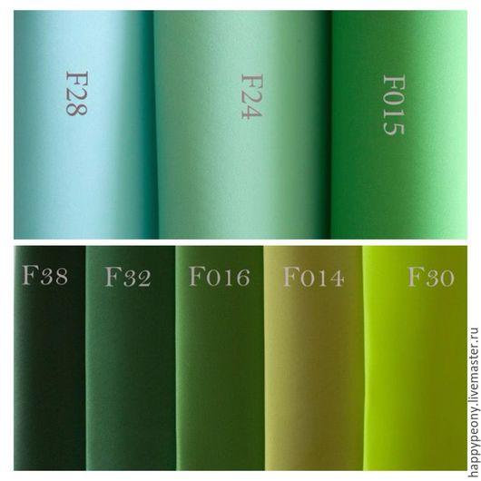 F28-аквамарин F24-мятный F015-светло-зелёный F38-тёмно-тёмно зелёный F32-морской зелёный F016-тёмно-зелёный F014-оливковый F030-жёлто-зелёный