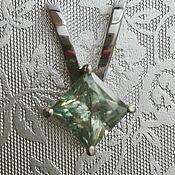 Подвеска ручной работы. Ярмарка Мастеров - ручная работа Кулон серебро муассанит. Handmade.