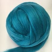 Материалы для творчества handmade. Livemaster - original item Australian Merino Turquoise.Germany.19 MD. wool for felting. Handmade.