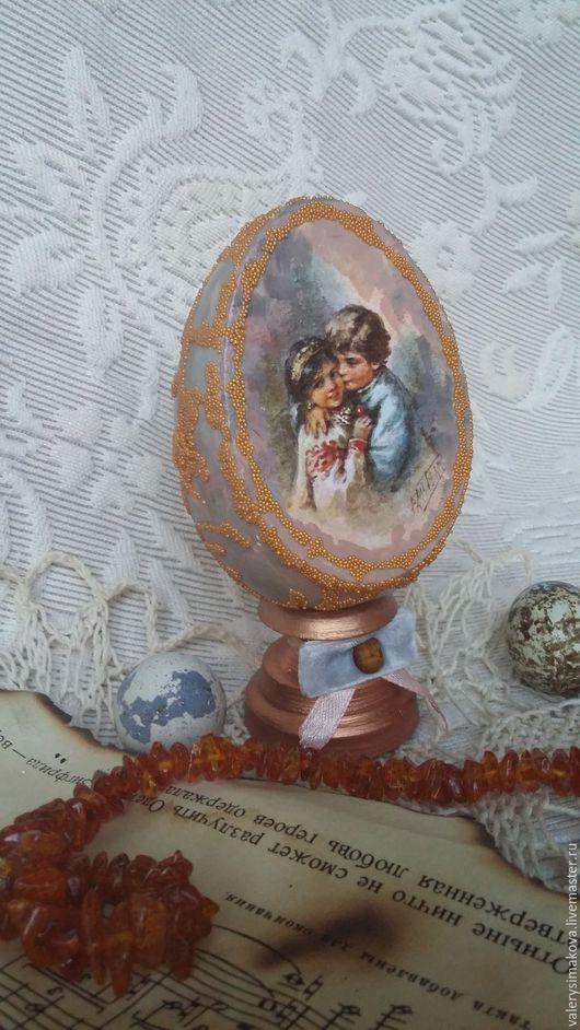 Подарки на Пасху ручной работы. Ярмарка Мастеров - ручная работа. Купить Пасхальный сувенир (2). Handmade. Комбинированный, яйцо деревянное