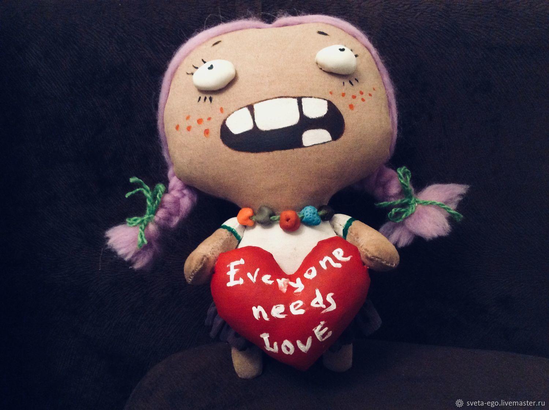 Кукла авторская интерьерная Зося  Everyone needs love, Куклы и пупсы, Зеленоград,  Фото №1