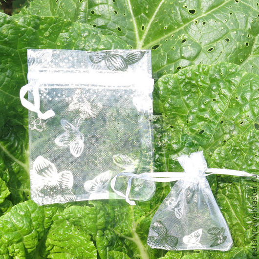 Упаковка ручной работы. Ярмарка Мастеров - ручная работа. Купить Мешочки из органзы бабочки 2 видов. Handmade. Мешочки, свадьба