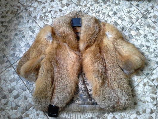 """Верхняя одежда ручной работы. Ярмарка Мастеров - ручная работа. Купить Полушубок из лисы""""Огневка"""".. Handmade. Рыжий, натуральный мех"""
